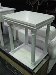 Sale 7937A - Lot 1134 - White Side Table with Column Supports
