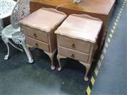 Sale 7969A - Lot 1014 - Pair of Queen Anne Style Bedside Cabinets