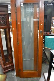 Sale 8066 - Lot 1070 - Pair of Timber Framed Glass Doors