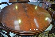 Sale 8093 - Lot 1814 - Victorian Rosewood Circular Tilt-Top Supper Table on Pedestal Base