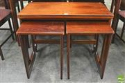 Sale 8310 - Lot 1048 - Superb McIntosh Rosewood Nest of Tables with Fold Over Top