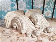 Sale 8500A - Lot 88 - A pair of handfinished French style corbels - Condition: Very Good - Measurements: 33cm high x 27cm wide (top)