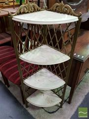 Sale 8550 - Lot 1186 - Metal Corner Multi Tiered Plant Stand