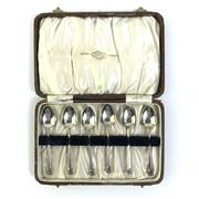 Sale 8793 - Lot 44 - Apex Australian Silver Coffee Spoon Set of Six, in original box