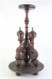 Sale 8827 - Lot 72 - A Victorian Timber Smokers Stand with Twin Candle Holder Mid Section