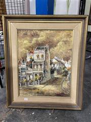 Sale 8936 - Lot 2093 - Salme Tiernan, Paddington, oil on board, 56.5x 68 cm, signed lower left