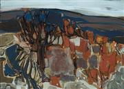Sale 8976A - Lot 5047 - Gerard Altamann (1923 - 2012) - Abstract Landscape 1962 45.5 x 63 cm (frame: 64x 81 x 5 cm)