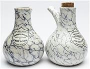 Sale 9054E - Lot 21 - A near pair of Mawson & Thompson Improved earthenware inhalers. Height 22cm