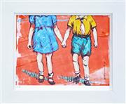 Sale 8296A - Lot 74 - David Bromley (1960 - ) - Holding Hands 21 x 28cm
