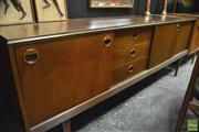 Sale 8350 - Lot 1083 - Teak 1960s Sideboard with Sliding Doors