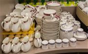 Sale 8310A - Lot 222 - A large quantity of assorted Wedgwood hotel table wares including tea, milk, salt, pepper etc