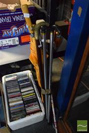 Sale 8530 - Lot 2335 - Collection of Walking Sticks and Umbrella