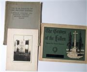 Sale 8639 - Lot 68 - Two Booklets -(1) The War Graves of the British Empire Dartmoor Cemetery and Norfolk Cemetery Becordel-Becourt France includes some ...