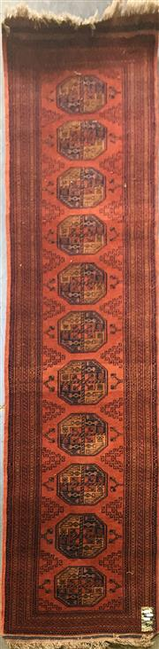 Sale 8740 - Lot 1590 - Afghan Turkoman Runner (300 x 64cm)