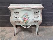 Sale 9026 - Lot 1002 - French Style Bombe Chest of 2 Drawers (h:78 x w:80 x d:40cm)