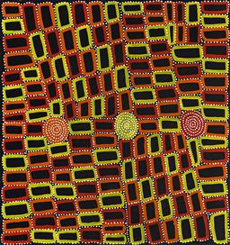 Sale 9150J - Lot 88 - WALALA TJAPALTJARRI (1960 - ) Tingari acrylic on canvas 97 x 92 cm (stretched and ready to hang) signed verso; certificate of authen...
