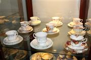 Sale 8151 - Lot 86 - Royal Albert Old Country Roses Trio with 8 Other Trios incl. Duchess