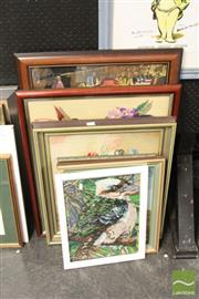 Sale 8468 - Lot 2072 - Collection of Framed Tapestries incl Kookaburra (6)