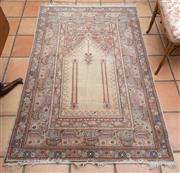 Sale 8550H - Lot 26 - A finely woven Persian prayer rug on neutral ground with 180 x 115cm