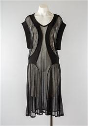 Sale 8740F - Lot 228 - A LIMIfeu sheer organic-lined panelled dress with low cap sleeves, size small