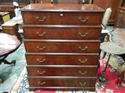 Sale 8774 - Lot 1029 - Good George III Style Novelty Stepped Mahogany Chest of Drawers, the six graduated drawers within cross-banded frames and with oak s...