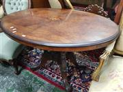 Sale 8831 - Lot 1049 - Victorian Walnut and Inlaid Loo Table