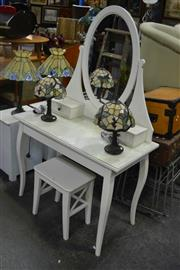 Sale 8054 - Lot 1055 - White Painted Mirrored Back Dresser