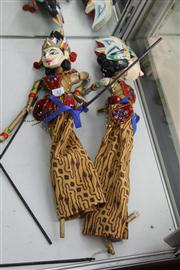 Sale 8276 - Lot 43 - Balinese Pair of Puppets