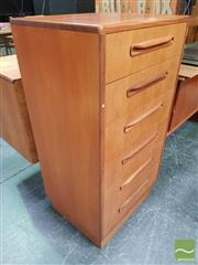 Sale 8493 - Lot 1010 - G-Plan 9 Drawer Teak Tall Boy Chest