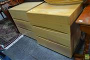 Sale 8515 - Lot 1064 - Pair of Timber Bedsides with Three Drawers