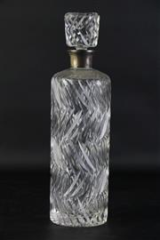 Sale 8849P - Lot 641 - Crystal Decanter with Continental Silver Mount, H30cm