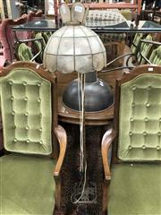 Sale 8942 - Lot 1071 - Floor Lamp with Turtle Shell Shade (H: 140cm)