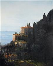 Sale 9038 - Lot 583 - Timothy Boutsis - The Villa Medici overlooking the Arno Valley & Florence 150 x 120 cm (frame: 166 x 136 x 3 cm)