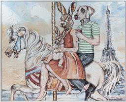Sale 9134H - Lot 66 - Gillie & Marc, They will always have Paris, acrylic on canvas, signed lower right 158cm x 200cm