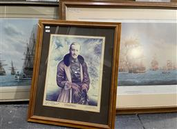 Sale 9135 - Lot 2089 - A group of (7) various decorative prints including maritime scenes by Rex Phillips, Mark Meyers, Arthur Simpson Sunline, and Royal...