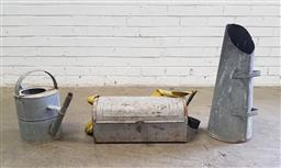 Sale 9151 - Lot 1450 - Galvanised watering can, tool box & coal scuttle (h:40cm)