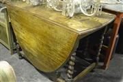 Sale 8046 - Lot 1030 - Oak Barley Twist Gateleg Table