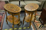 Sale 8138 - Lot 917 - Pair Of Inlayed Side Tables