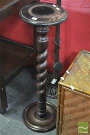 Sale 8312 - Lot 1041 - Jardiniere Stand with Barley Twist Pedestal Base