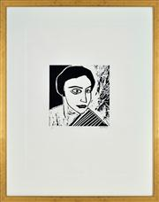 Sale 8344 - Lot 600 - Robert Dickerson (1924 - 2015) - The Actress 30 x 29.5cm; 100 x 79cm (frame size)