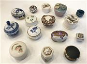 Sale 8436A - Lot 67 - Fifteen assorted lidded trinket boxes mainly porcelain including Masons.