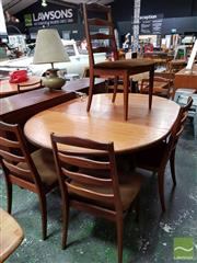 Sale 8532 - Lot 1076 - G-Plan Teak Table and 6 Ladder Back Chairs