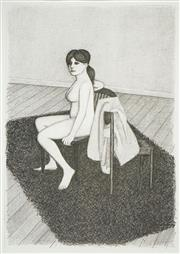 Sale 8545A - Lot 5074 - John Brack (1920 - 199) - Nude Steated in Armchair 44 x 32.5cm