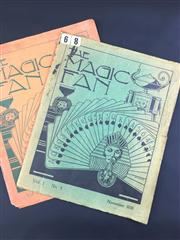 Sale 8539M - Lot 40 - 'The Magic Fan 1938', vol. 1 no. 1 for July, vol. 1 no. 2 for November. Published by Malayan Magic Circle.