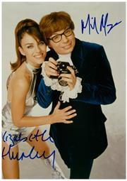Sale 8555A - Lot 5006 - Mike Myers & Elizabeth Hurley; Mike Myers & Heather Graham Austin Powers (2)