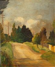 Sale 8665 - Lot 548 - Treania Bennett Smith (1901 - 1990) - Country Road, 1939 29 x 24cm