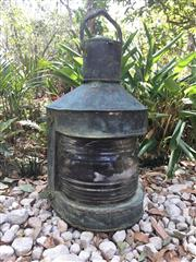 Sale 8857H - Lot 99 - A Large Antique Copper Ship Lantern, originally found on coast of the Great Australian Bight, thought to have been washed up from sh...
