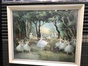 Sale 9092 - Lot 1032 - Vintage timber framed Ballerinas print by Degas (h:70 x w:85)