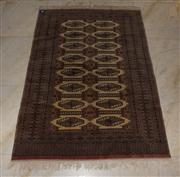 Sale 7981B - Lot 9 - Persian Turkman silk and wool rug 210 x 140cm