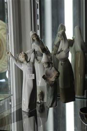 Sale 8160 - Lot 14 - Lladro Figure of a Boy with Another & 2 Nao Figures